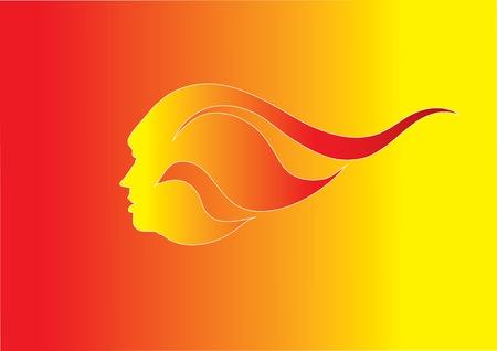 flame head Illustration