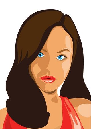 girl face Illustration