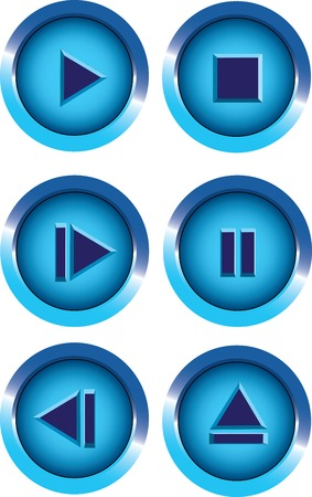 player buttons Illustration