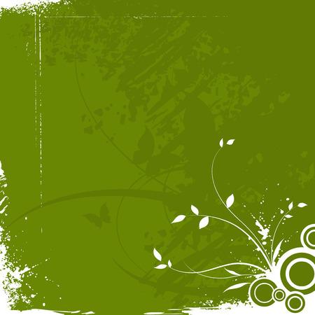 abstract grunge floral background Illustration