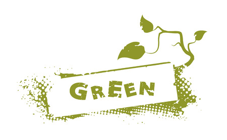 abstract green stamp Illustration