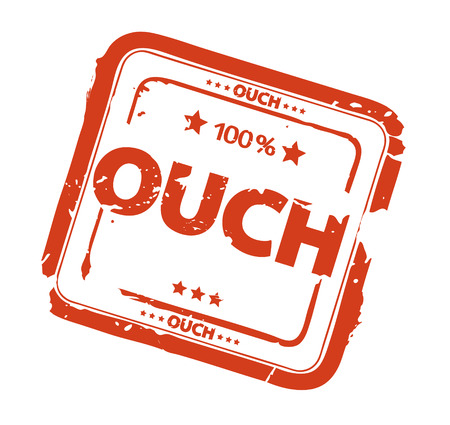 ouch stamp Stock Vector - 7040406