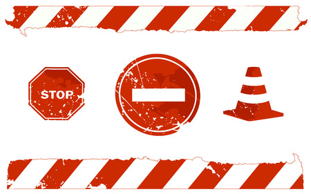 stop signs Illustration