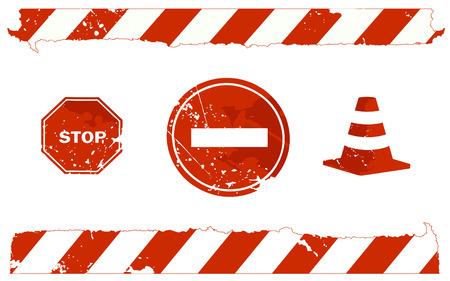 stop signs Illustration