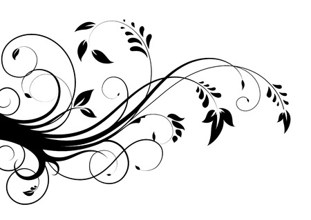 black branch: abstract floral pattern Illustration