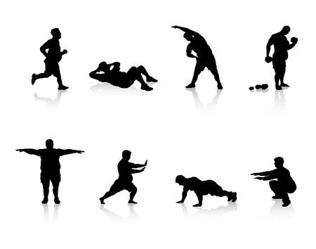 actividad fisica: las personas con sobrepeso Vectores