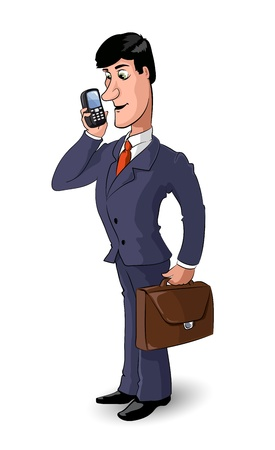 cartoon businessman 1 Illustration