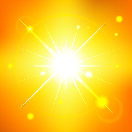summer sky: Sunny summer sky - editable vector graphic Illustration