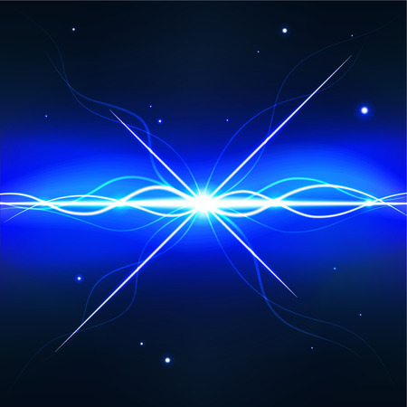 pulsar: Deep space pulsar - editable vector graphic Illustration
