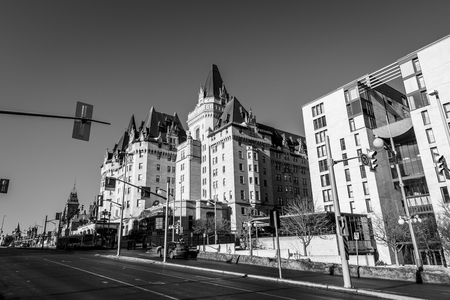 TTAWA, ONTARIO  CANADA - JANUARY 28  2018: PARLIAMENT BUILDINGS IN DOWNTOWN OF OTTAWA Editorial