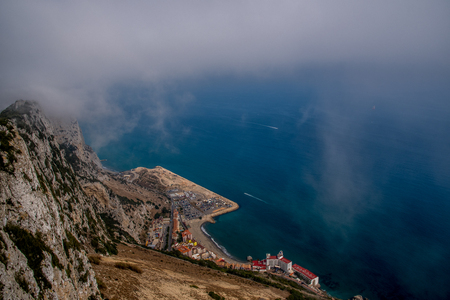 VIEW FROM ROCK OF GIBRALTAR Stock Photo