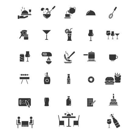 Restarurant icons vector set