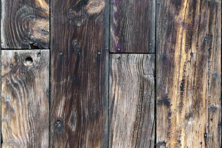 A dark grungy wooden background