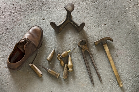 Shoemaker Tools Stock Photo