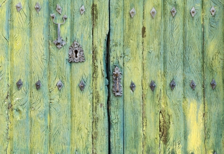 Old wooden rustic door detail photo