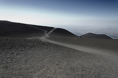 Slopes of Mount Etna, an active volcano on the island of Sicily photo