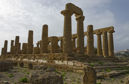 Valley of Temples in Agrigento of Sicily Stock Photo - 15822826