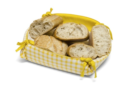 bread basket on white background Stock Photo - 16309289
