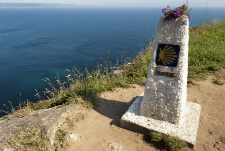 This area is the end at the sea of the Way of St. James pilgrimage route. photo