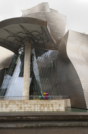 BILBAO, SPAIN - MAY 14: Exterior view of the Guggenheim Museum on May 14, 2011 in Bilbao, Spain. This Museum is dedicated exhibition of modern art and was designed by Frank Gehry.