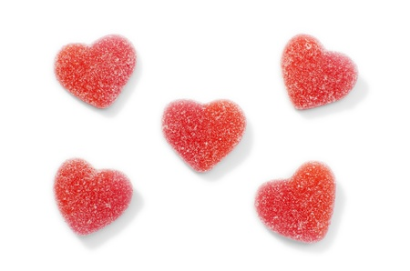 Blank candy hearts on isolated on white  Add your own text  Stock Photo - 17459530