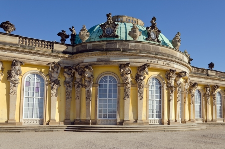 Palace of Frederick the Great, King of Prussia, in Potsdam, near Berlin