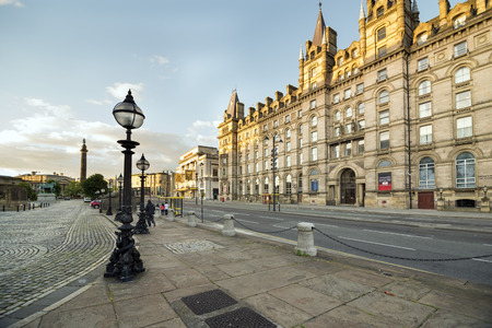 LIVERPOOL, UNITED KINGDOM - JUNE 8, 2014: The former North Western Hotel is on the east side of Lime Street, Liverpool, England. It is designated by English Heritage a Grade II listed building