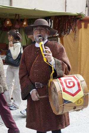 castile leon: Historical recreation of a medieval market in Tordesillas (Valladolid) Castile and Leon, Spain