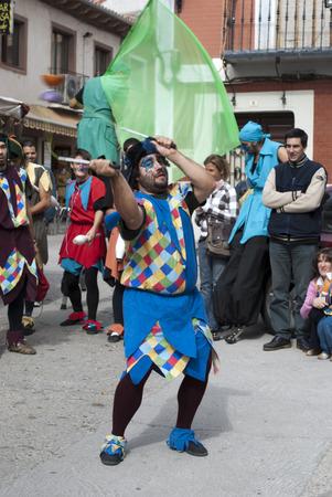 castile leon: Historical recreation of a medieval market in Tordesillas Valladolid Castile and Leon, Spain