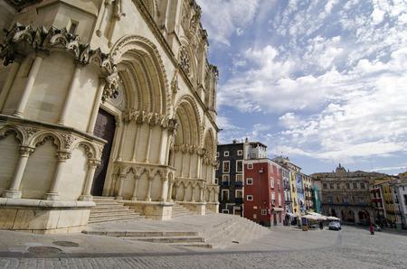 cuenca: CUENCA, SPAIN - APRIL 15, 2013: Cathedral of Cuenca, Spain
