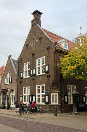 dutch typical: NAARDEN, NETHERLANDS - APRIL 30: Typical Dutch architecture on April 30, 2013 in Naarden, The Netherlands Editorial