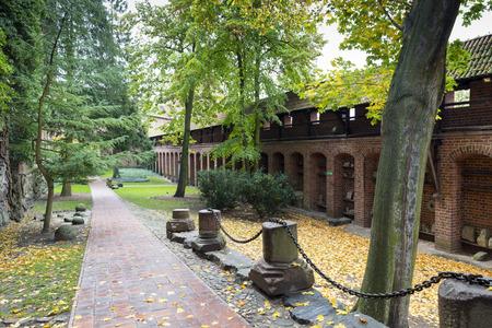 gothic castle: Interior in greatest Gothic castle in Europe - Malbork. Teutonic castle. World Heritage List UNESCO. Editorial