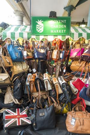 covent: LONDON, UNITED KINGDOM - JUNE 5,  2014: Market Street Handbag in Covent Garden, London