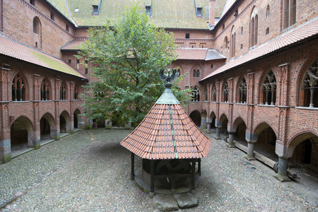 greatest: Interior in greatest Gothic castle in Europe - Malbork. Teutonic castle. World Heritage List UNESCO. Editorial