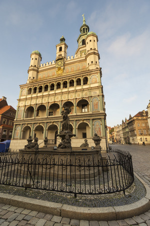 old town hall: POZNAN, POLAND - OCTOBER 24, 2014: old town hall in Poznan - Poland Editorial