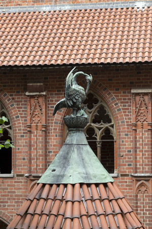 teutonic: Interior in greatest Gothic castle in Europe - Malbork. Teutonic castle. World Heritage List UNESCO. Editorial