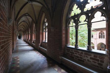 teutonic: Interior in greatest Gothic castle in Europe - Malbork. Teutonic castle. World Heritage List UNESCO. Editoriali