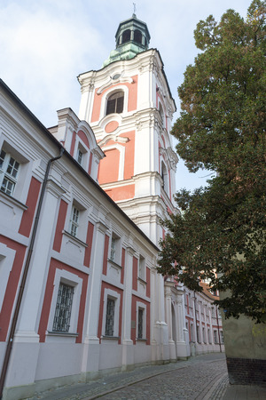 wielkopolskie: POZNAN, POLAND - OCTOBER 24, 2014: Belfry of Church of St. Mary Magdalene. Poznan. Poland Editorial