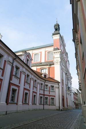 wielkopolskie: POZNAN, POLAND - OCTOBER 24, 2014: Belfry of Church of St. Mary Magdalene. Poznan. Poland Editorial