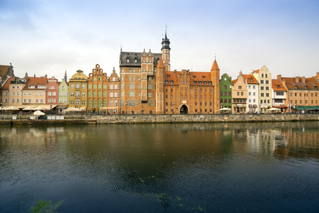 ms: The classic view of Gdansk with the Hanseatic-style buildings reflected in the River Motlawa.