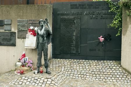 regime: GDANSK ZASPA, POLAND - OCTOBER 22, 2014: Solidarity place. Memorial workers victims of communist regime. Editorial