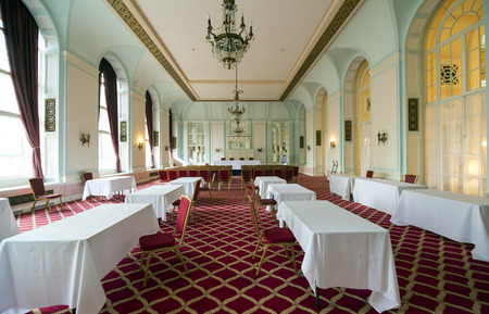 designated: LIVERPOOL, UNITED KINGDOM - JUNE 8, 2014: Halls of the Britannia Adelphi Hotel is located at Ranelagh Place, Liverpool city centre, England. The present building is designated by English Heritage as Grade II listed building.