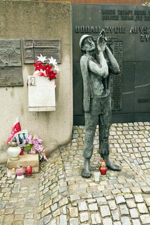 regime: Zaspa GDANSK, POLAND - OCTOBER 22, 2014: Solidarity place. Memorial workers victims of communist regime.