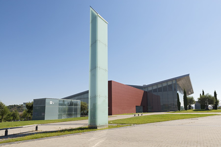 levi: VALLADOLID, SPAIN - JULY 10, 2015: The Miguel Delibes Cultural Center was designed by architect Ricardo Bofill Levi and opened in March 2007 with a concert of the Symphony Orchestra of Castilla and Leon Editorial