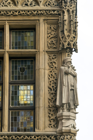 bourgeois: WROCLAW, POLAND - OCTOBER24, 2014: Detail of a window of the town hall, fine example of Gothic bourgeois architecture, Editorial