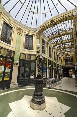 commercial painting: VALLADOLID, SPAIN - JULY 5, 2015: Pasaje Gutierrez by Jerome Ortiz de Urbina of Valladolid, Castilla y León, Spain. Built in nineteenth century, is now a shopping arcade