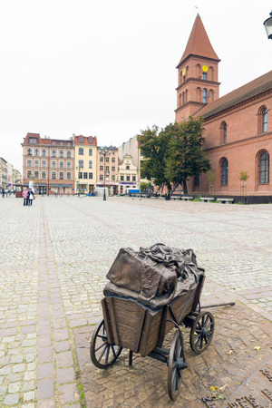 copernicus: TORUN, POLAND - OCTOBER 23, 2014: The mediaeval town, birthplace of Nicolaus Copernicus, is listed among the UNESCO World Heritage Sites.