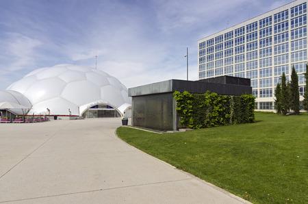 ruiz: VALLADOLID, SPAIN - JULY 5, 2015: Cupula del Milenio (Millennium Dome) by Enric Ruiz Geli in Valladolid, Castilla y Leon,  Spain.