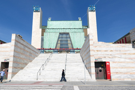 local landmark: SANTANDER, SPAIN - MARCH 10, 2015: The new Festival palace in the city of Santander, Cantabria, Spain Editorial