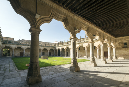 european culture: SALAMANCA, SPAIN - NOVEMBER 21, 2014: Minor Court Schools. The University of Salamanca was founded in 1134. It is the oldest founded university in Spain and the third oldest in Europe.